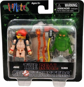 Real Ghostbusters Minimates Mini Figure 2-Pack Series 1 Janine & Slimer