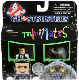 Ghostbusters Exclusive Minimates Mini Figure 2-Pack New York City Mayor & Subway Ghost