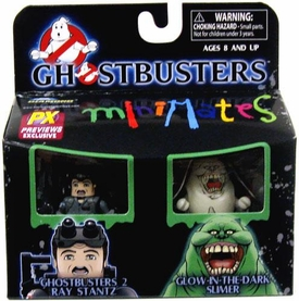 Ghostbusters Minimates Previews Exclusive Mini Figure 2-Pack Ray & Glow Slimer