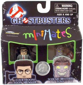 Ghostbusters II Exclusive Minimates Mini Figure 2-Pack Courtroom Egon Spengler & Scolari Brother Tony