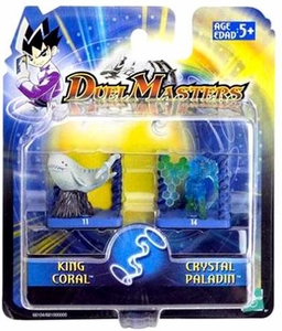 Duel Masters Collectible Mini Figures King Coral & Crystal Paladin
