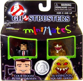 Ghostbusters Exclusive Minimates Mini Figure 2-Pack Courtroom Peter Venkman & Washington Square Ghost