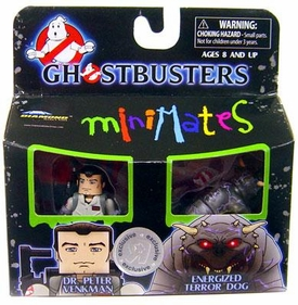 Ghostbusters Exclusive Minimates Mini Figure 2-Pack Dr. Peter Venkman & Energized Terror Dog