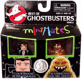 Ghostbusters Exclusive Best of Minimates Mini Figure 2-Pack Courtroom Peter Venkman & Washington Square Ghost