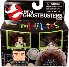 Ghostbusters Exclusive Best of Minimates Mini Figure 2-Pack Dr. Peter Venkman & Energized Terror Dog