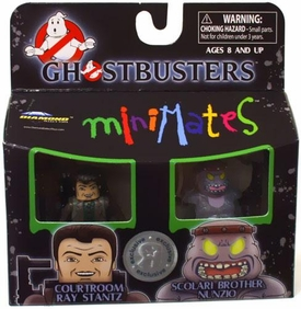 Ghostbusters Exclusive Minimates Mini Figure 2-Pack Courtroom Ray Stantz & Scolari Brother Nunzio