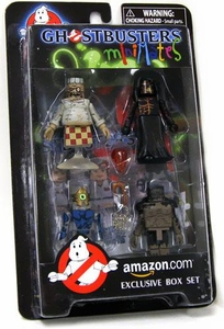 Ghostbusters The Video Game Exclusive Minimates Box Set [Chef Ghost, Architect, Azetlor & Black Slime Monster] BLOWOUT SALE!