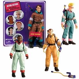 Mattel Retro Action Real Ghostbusters Series 1 Set of 4 Retro Action Figures [Peter Venkman, Egon Spengler, Winston Zeddemore & Ray Stantz]