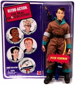 Mattel Retro Action Real Ghostbusters Series 1 Action Figure Peter Venkman