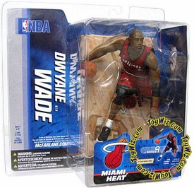 McFarlane Toys NBA Sports Picks Series 9 Action Figure Dwyane Wade (Miami Heat) Red Jersey Variant