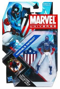 Marvel Universe 3 3/4 Inch Series 17 Action Figure #02 Marvel's Patriot