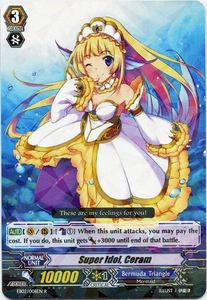 Cardfight Vanguard ENGLISH Banquet of Divas Single Card Rare EB02-008EN Super Idol, Ceram