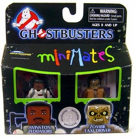 Ghostbusters Exclusive Minimates Mini Figure 2-Pack Winston Zeddmore & Zombie Taxi Driver