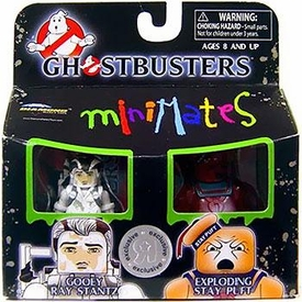 Ghostbusters Minimates Mini Figure 2-Pack Gooey Ray Stantz & Exploding Stay Puft Marshmallow Man