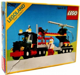 LEGO LEGOLAND Town System #6357 Stunt 'Copter N' Truck Damaged Package, Mint Contents!