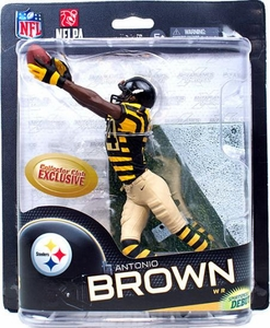 McFarlane Toys NFL Sports Picks Series 32 Collectors Club Exclusive Action Figure  Antonio Brown (Pittsburgh Steelers) Retro Uniform
