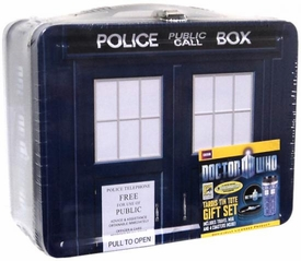 SDCC 2012 San Diego Comic-Con Exclusive Doctor Who TARDIS Tin Tote Gift Set Lunch Box