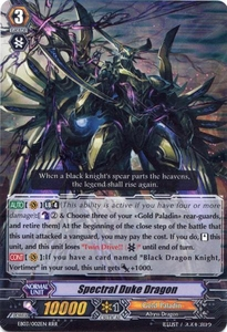 Cardfight Vanguard ENGLISH Cavalry of Black Steel Single Card RRR Rare EB03-002EN Spectral Duke Dragon