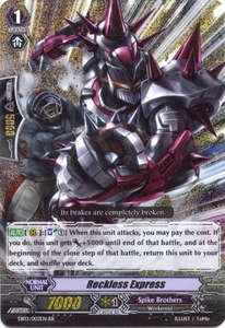 Cardfight Vanguard ENGLISH Cavalry of Black Steel Single Card RR Rare EB03-003EN Reckless Express