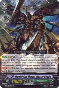 Cardfight Vanguard ENGLISH Cavalry of Black Steel Single Card RR Rare EB03-004EN Martial Arts Mutant, Master Beetle