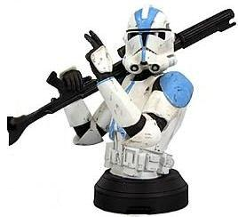 Gentle Giant Exclusive Star Wars Clone Trooper Mini Bust 501st Special Ops Trooper
