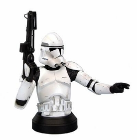 Gentle Giant Exclusive Star Wars Clone Trooper Mini Bust White Armor Clone Trooper