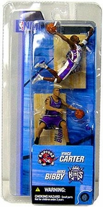 McFarlane Toys NBA 3 Inch Sports Picks Series 2 Mini Figures 2-Pack Vince Carter (Toronto Raptors) & Mike Bibby (Sacramento Kings)