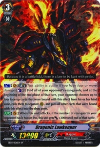 Cardfight Vanguard ENGLISH Cavalry of Black Steel Single Card RR Rare EB03-007EN Dragonic Lawkeeper