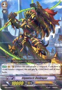 Cardfight Vanguard ENGLISH Cavalry of Black Steel Single Card Rare EB03-013EN Gigantech Destroyer