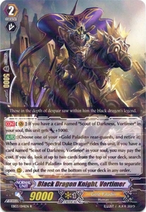 Cardfight Vanguard ENGLISH Cavalry of Black Steel Single Card Rare EB03-014EN Black Dragon Knight, Vortimer