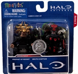Halo Minimates Exclusive Series 5 Mini Figure 2-Pack Prophet of Regret & Brute Chieftain