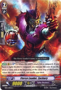 Cardfight Vanguard ENGLISH Cavalry of Black Steel Single Card Common EB03-019EN Fierce Leader, Zachary