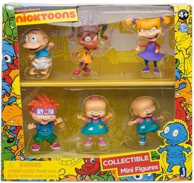 NickToons Rugrats 2 Inch Deluxe Collector 6-Pack Figurine Set Tommy, Chuckie, Angelica, Susie, Phil & Lil