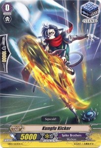Cardfight Vanguard ENGLISH Cavalry of Black Steel Single Card Common EB03-023EN Kungfu Kicker
