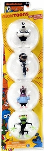 T.U.F.F. Puppy 2 Inch Deluxe Collector 4-Pack Figurine Set Dudley, Kitty, Chamaleon & Vermonious Snap Trap