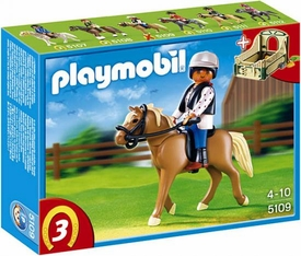 Playmobil Collectible Horses Set #5109 Haflinger Horse with Rider and Stable