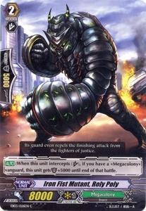 Cardfight Vanguard ENGLISH Cavalry of Black Steel Single Card Common EB03-026EN Iron Fist Mutant, Roly Poly