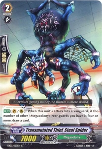 Cardfight Vanguard ENGLISH Cavalry of Black Steel Single Card Common EB03-027EN Transmutated Thief, Steal Spider