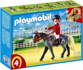 Playmobil Collectible Horses Set #5110 Trakehner Horse with Equestrienne and Stable