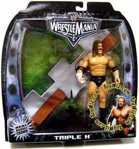 WWE Jakks Pacific Wrestlemania 22 Series 3 Action Figure with Gear HHH Triple H with Crown Head Band