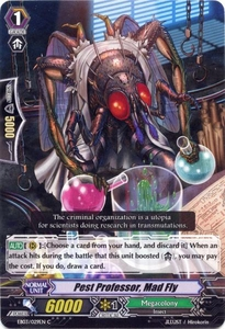 Cardfight Vanguard ENGLISH Cavalry of Black Steel Single Card Common EB03-029EN Pest Professor, Mad Fly