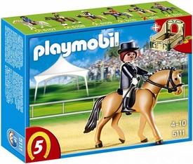 Playmobil Collectible Horses Set #5111 German Sport Horse with Dressage Rider and Stable