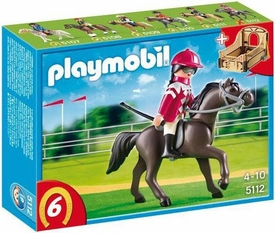 Playmobil Collectible Horses Set #5112 Arabian Horse with Jockey and Stable