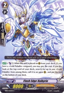 Cardfight Vanguard ENGLISH Cavalry of Black Steel Single Card Common EB03-032EN Flash Edge Valkyrie