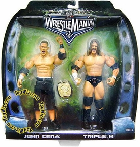 WWE Jakks Pacific Wrestlemania 22 Series 3 Exclusive Action Figure 2-Pack John Cena & HHH Triple H [Damaged Packaging, Mint Contents]