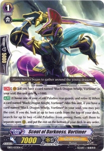 Cardfight Vanguard ENGLISH Cavalry of Black Steel Single Card Common EB03-033EN Scout of Darkness, Vortimer