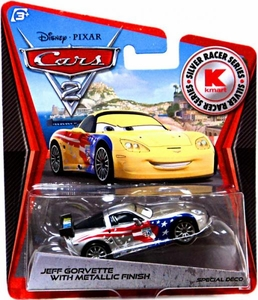 Disney / Pixar CARS 2 Movie Exclusive 1:55 Die Cast Car Silver Racer Jeff Gorvette