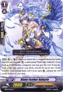 Cardfight Vanguard ENGLISH Cavalry of Black Steel Single Card Common EB03-034EN Blade Feather Valkyrie