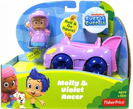 Bubble Guppies Vehicle & Figure Molly & Violet Racer