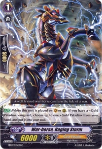 Cardfight Vanguard ENGLISH Cavalry of Black Steel Single Card Common EB03-035EN War-horse, Raging Storm